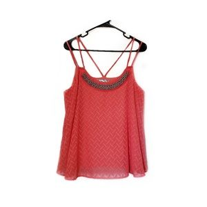 Maurice's Coral Textured Strappy Tank